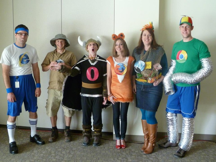 Web Browser Group Costumes