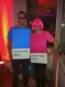 Pantone Color Swatch Couple Costumes