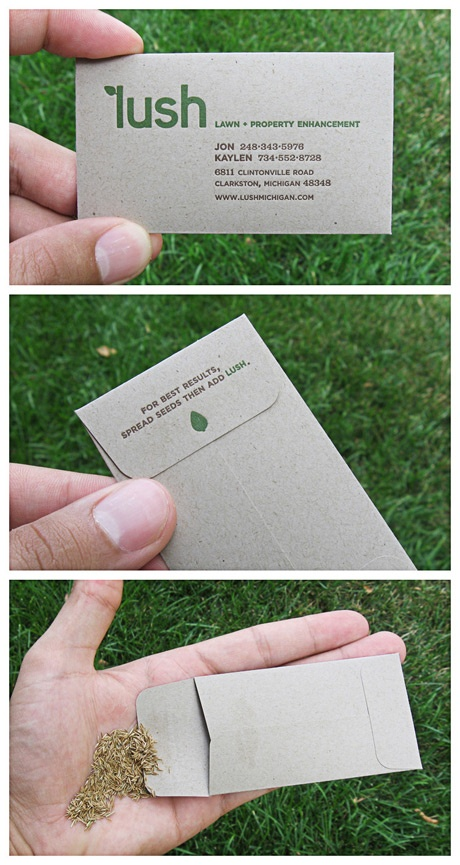 Grass Seed Envelope Business Card