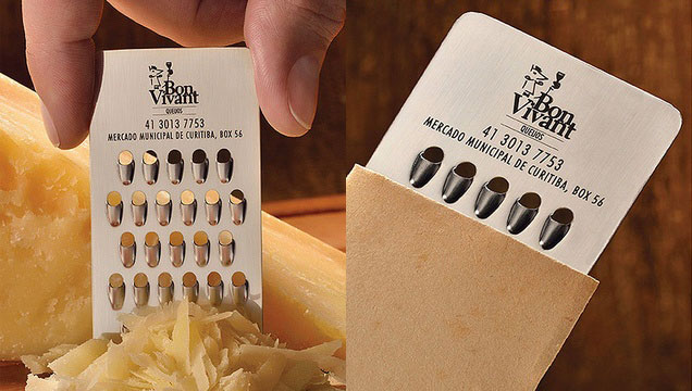 Cheese Grater Business Card