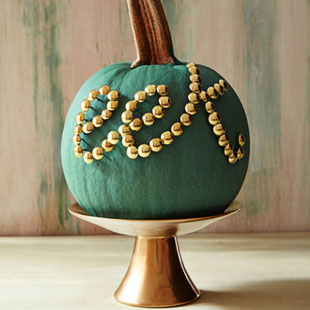 Tacks Typographic Pumpkins for Halloween