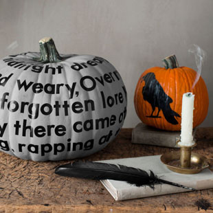 Wall Decal Typographic Pumpkins for Halloween