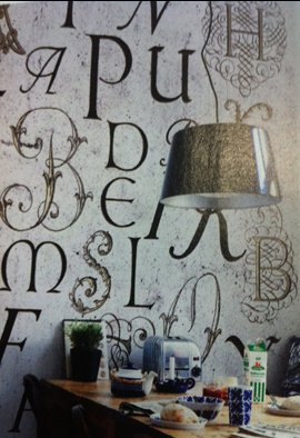 typography wall transfers