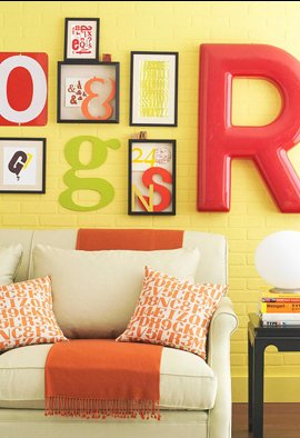 framed typography decor