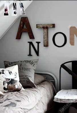 typographic wall hangings