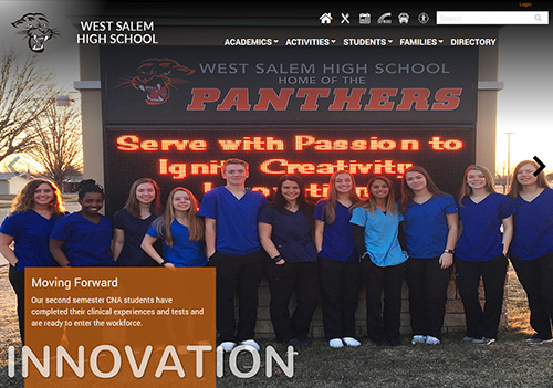 Webteam revamps West Salem School District website