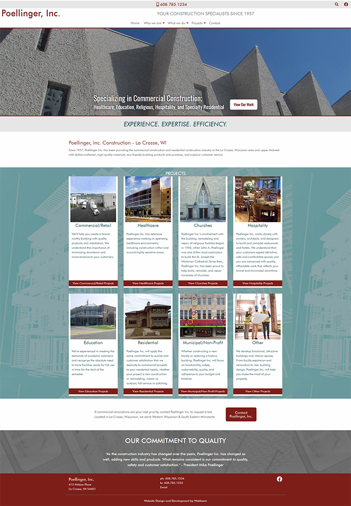 Poellinger, Inc New Website Design