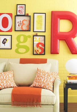 framed typography decor