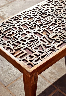 Typographic Table