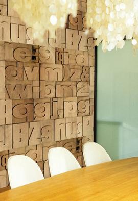 Letterpress typography wall art