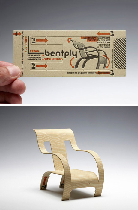 Bentply Armchair Business Card by Richard C Evans