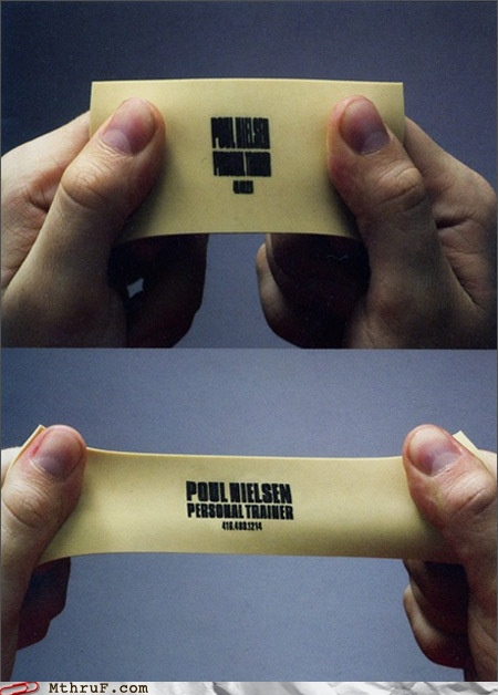 More business cards that blow my mind webteam inc resistance band business card reheart Gallery