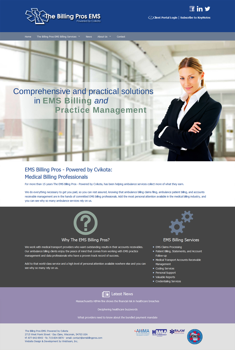 The Billing Pros EMS: Powered by Cvikota