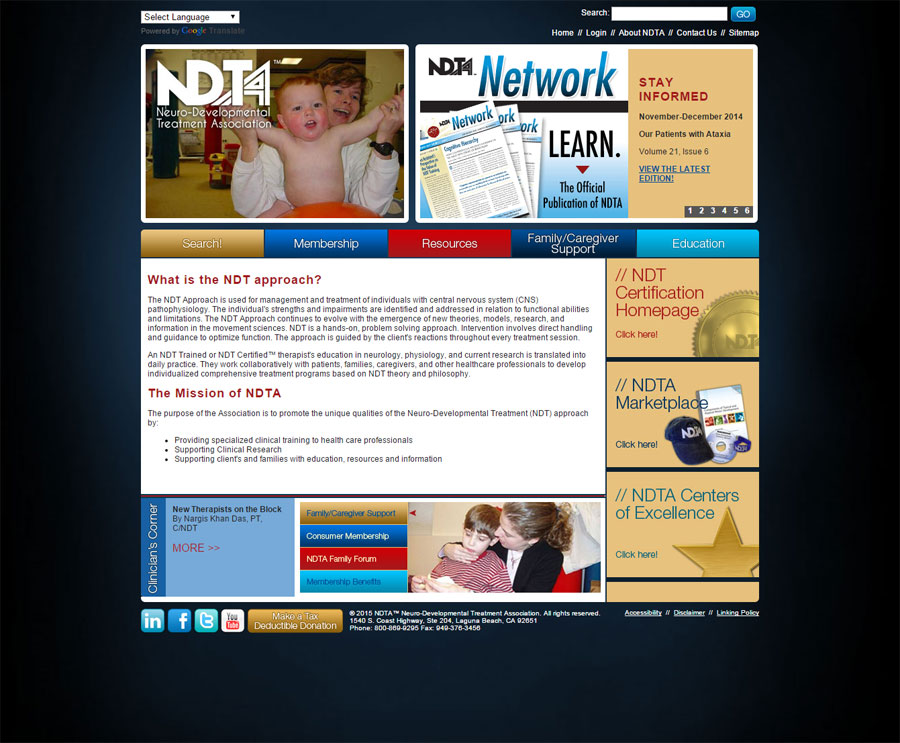 Webteam Designs Ndta Website Webteam Inc