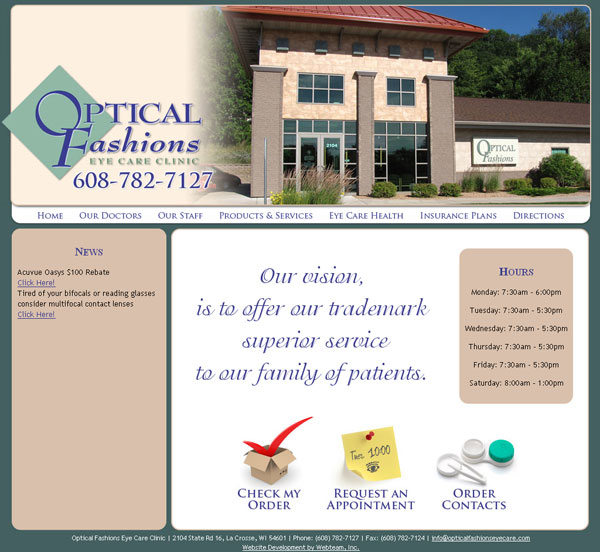 Optical Fashions Eye Care Clinic Before
