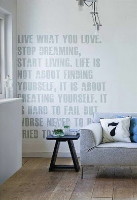 typographic wall decals